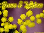 Cartolina Festa della Donna, Buon 8 Marzo