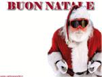 cartolina di Natale divertente: Babbo Natale sciatore