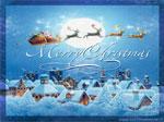Bellissima cartolina Natale: Merry Christmas