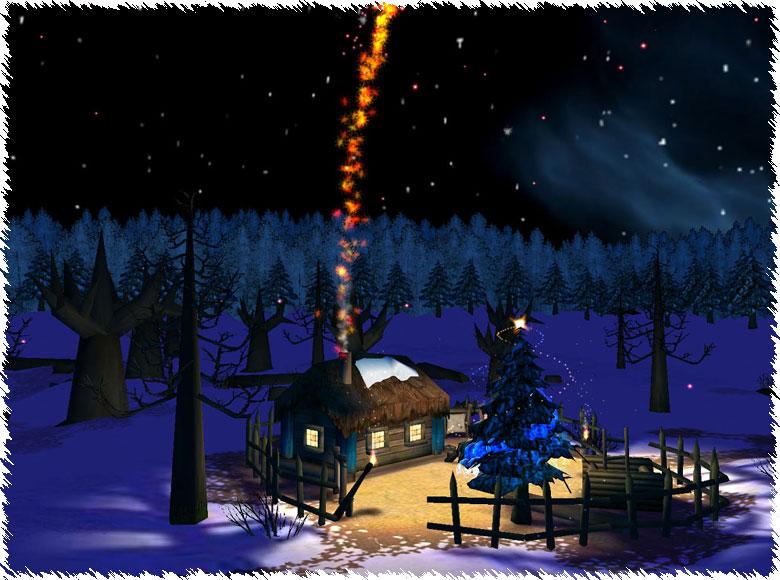 Immagini Che Si Muovono Di Natale.Immagine Di Natale Paesaggio Natale