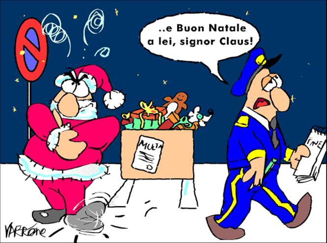 multa a Babbo Natale